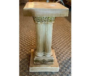 Vintage Faux Stone Hollywood Regency Pedestal