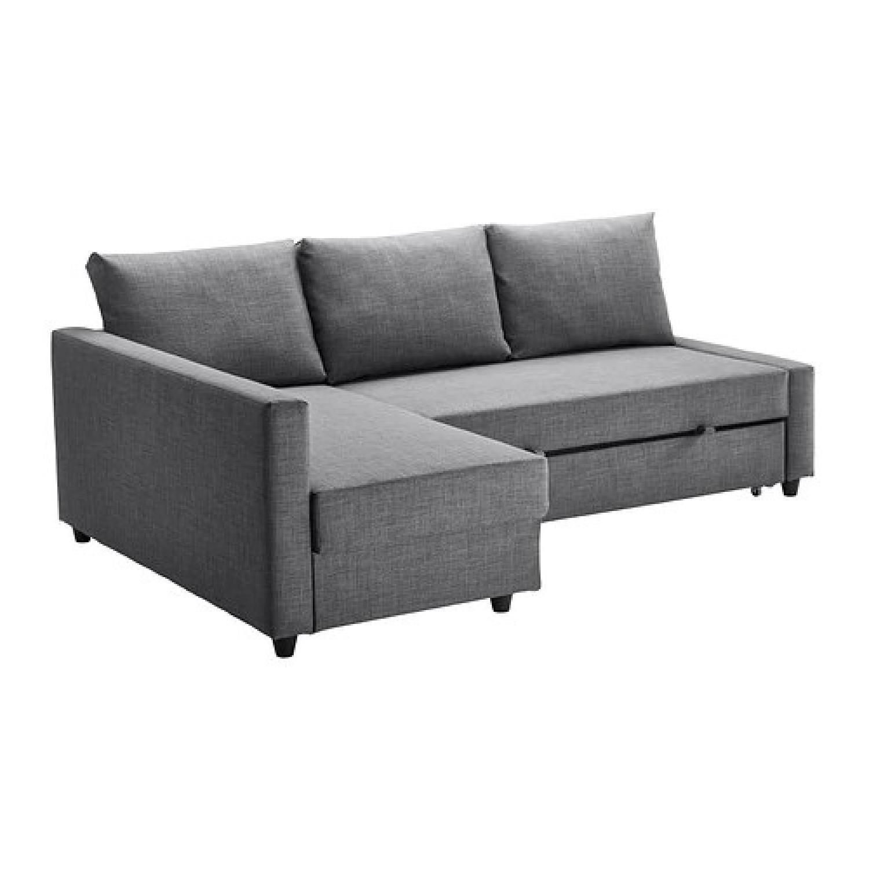 Ikea Friheten Sleeper Sectional Sofa w/ Storage & 3 - AptDeco