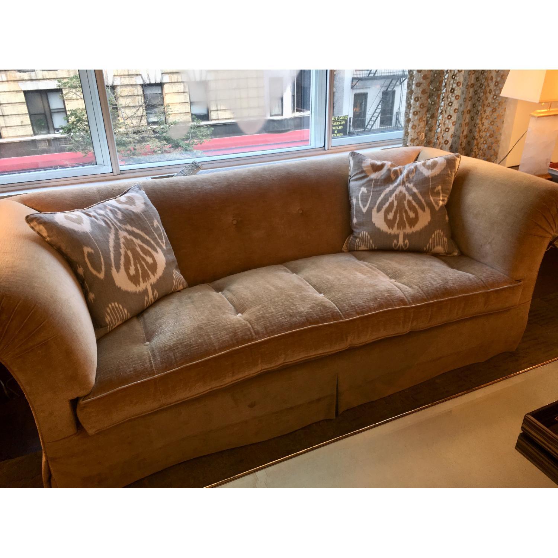 Custom Cotton Velvet Upholstered Sofa