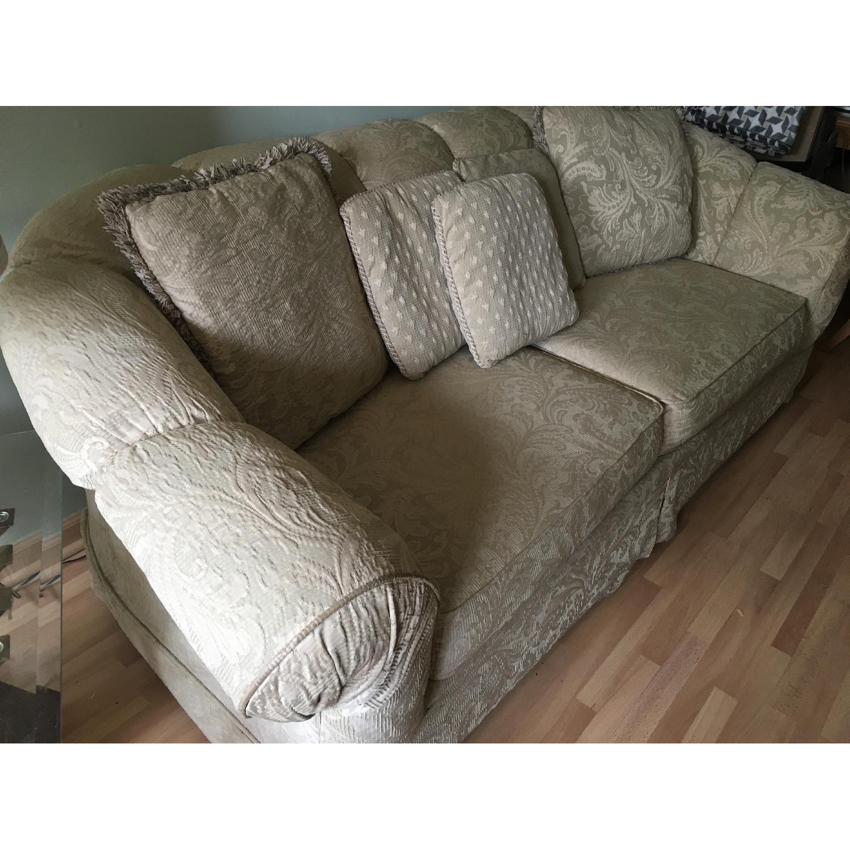 Beige Patterned Sofa