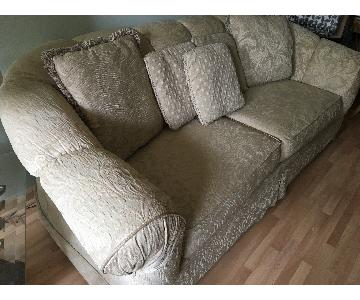 Beige Patterned Sofa