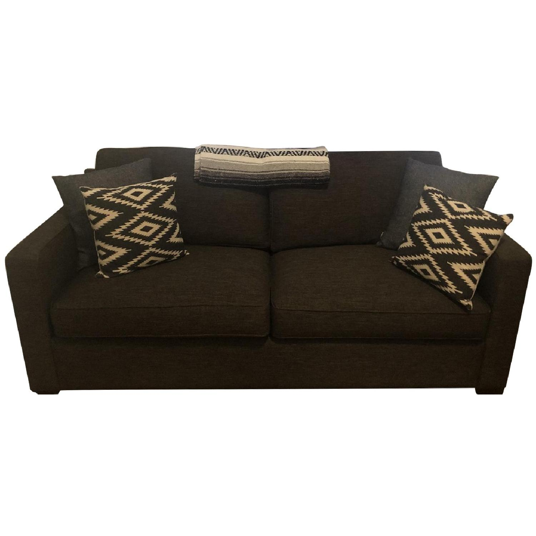 West Elm Grey Linen Sleeper Sofa