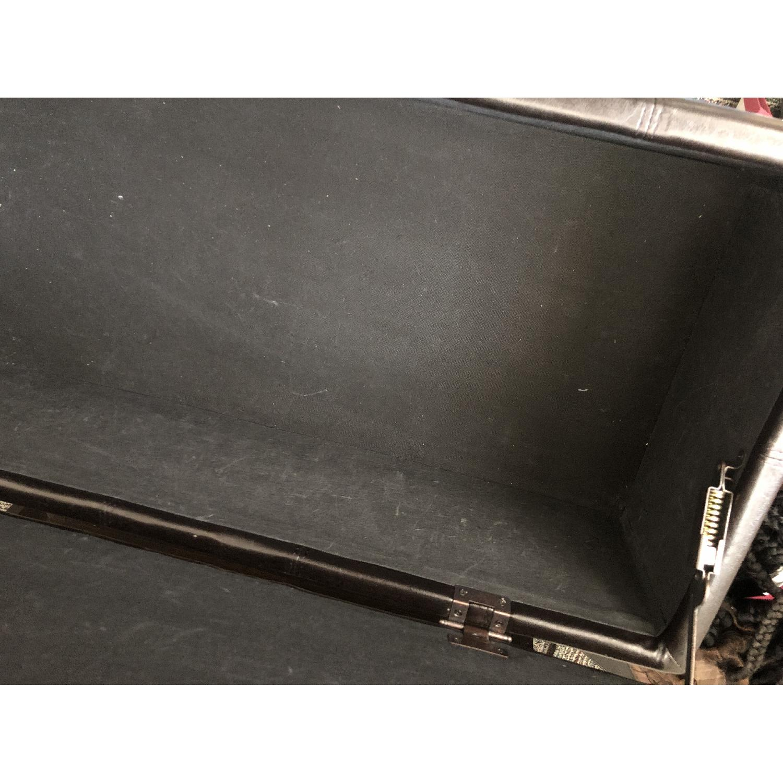 West Elm Faux Leather Storage Ottoman