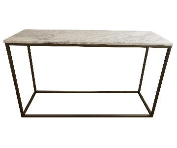 Autumn Marble & Brass Console