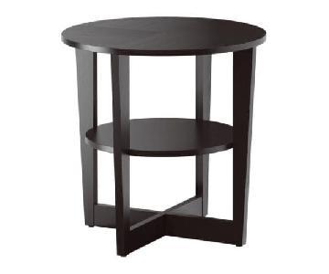 Ikea Vejmon Side Table in Black-Brown