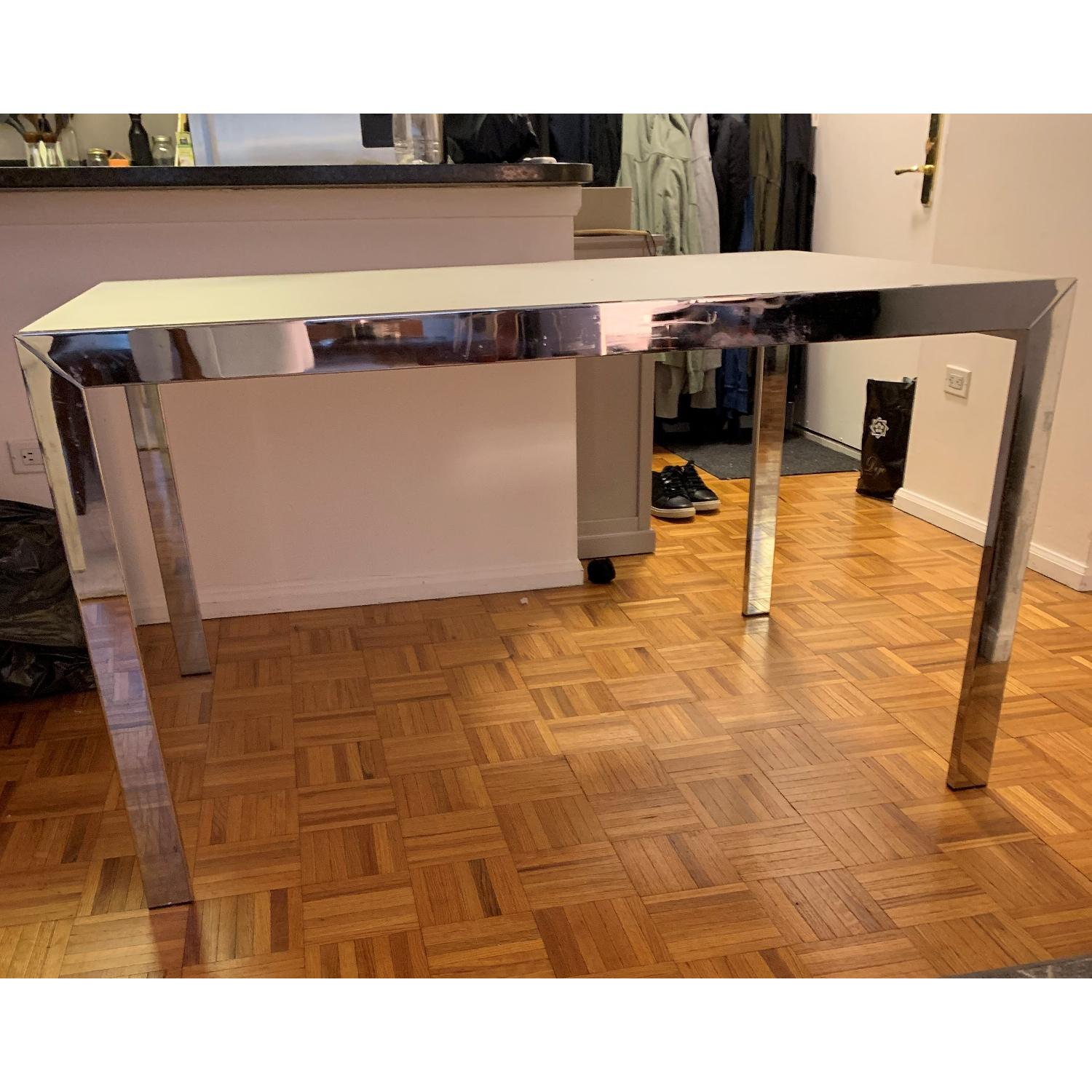 Italian Glass Extendable Dining Table