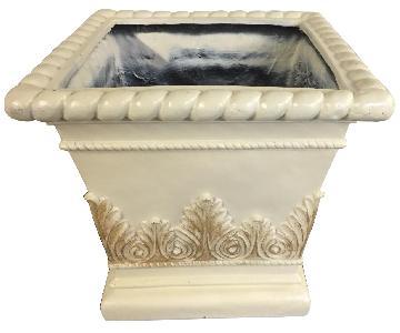 Corinthian Design Ceramic Planters