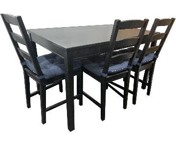 Ikea Lerhamn 5-Piece Dining Set