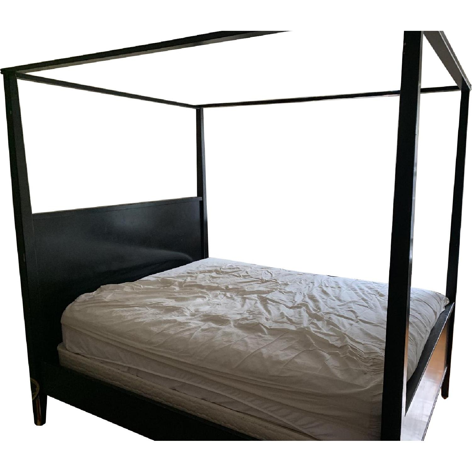 Black 4 Poster Queen Size Bed Frame