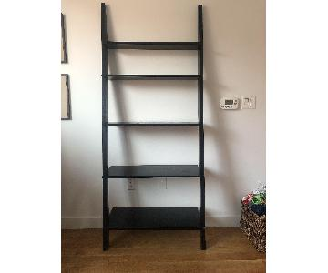 Leaning Ladder Bookshelf in Espresso