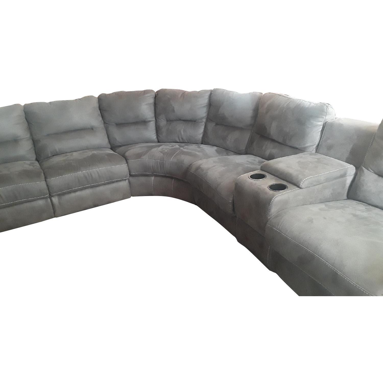 Raymour & Flanigan 7-Piece Power-Reclining Sectional Sofa