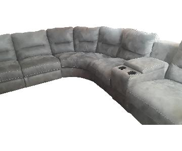Raymour & Flanigan 7-Piece Power-Reclining Sectional Sofa