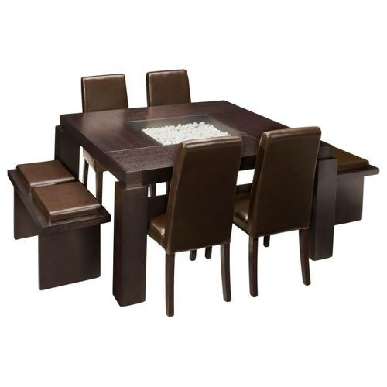 Raymour & Flanigan Cortland Place 7-Piece Dining Set