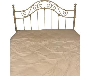 Cream & Gold Queen Size Bed Frame w/ Headboard