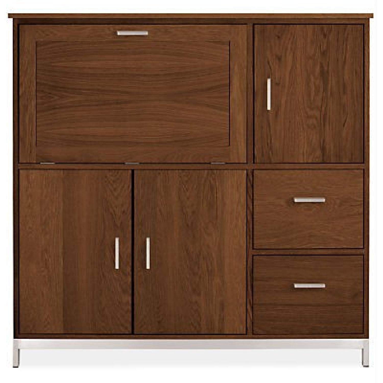 Room & Board Linear Office Armoire/Cabinet in Walnut