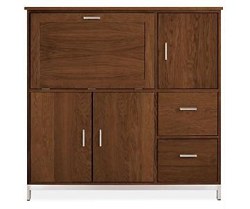 Room & Board Linear Office Armoire/Cabinet in Walnut
