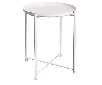 Modan Khloe White Metal Side Tables