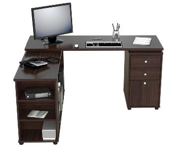 Inval L-Shaped Computer Workstation