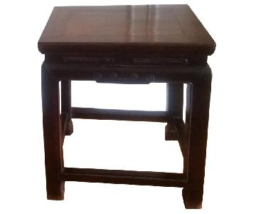 Antique Asian Wooden Side Tables/Stools