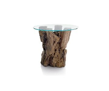 Crate & Barrel Driftwood End Table