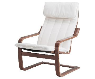 Ikea Poang Armchair & Ottoman