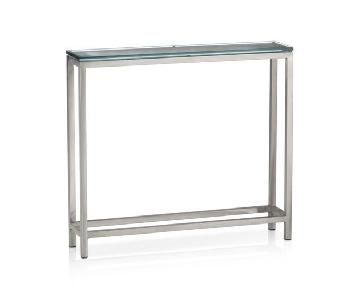 Crate & Barrel Era Glass Console Table