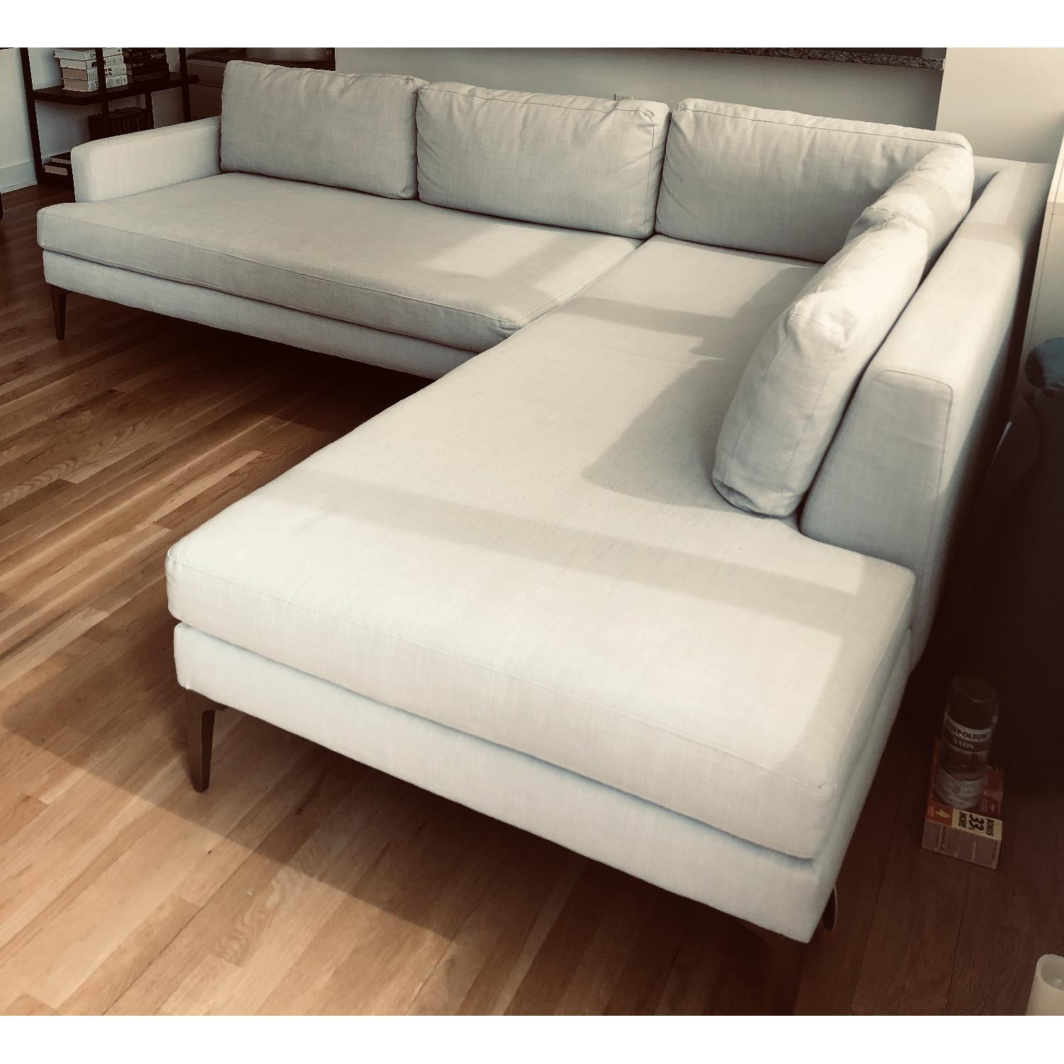 Wondrous West Elm Andes Chaise Sectional Sofa Aptdeco Alphanode Cool Chair Designs And Ideas Alphanodeonline