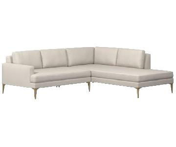 West Elm Andes Chaise Sectional Sofa