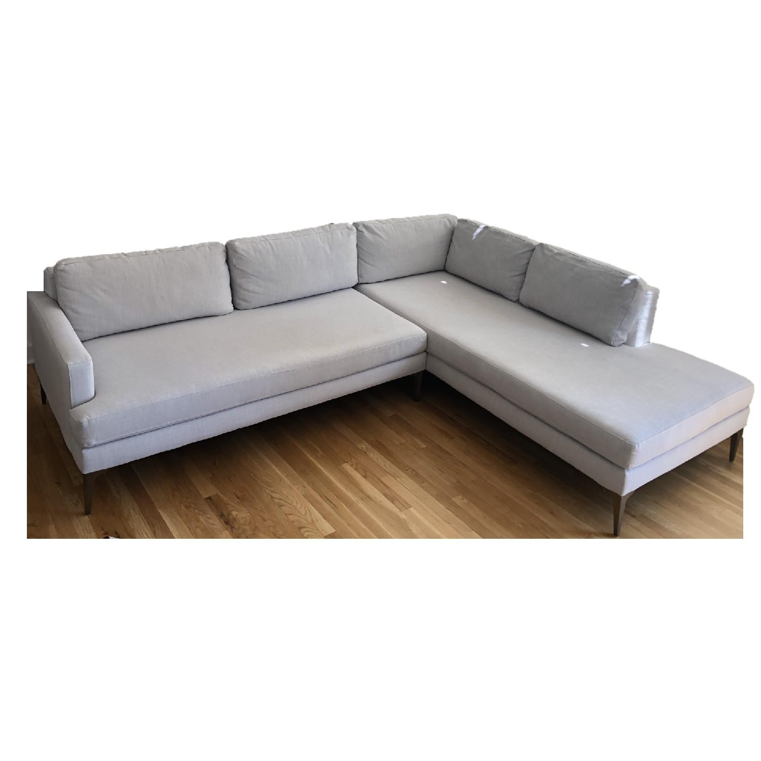 Super West Elm Andes Chaise Sectional Sofa Aptdeco Short Links Chair Design For Home Short Linksinfo