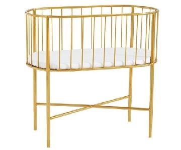 Pottery Barn Modern Baby Brass Bassinet