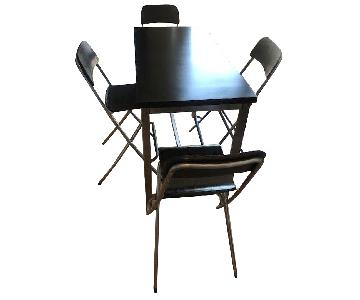 Ikea Utby Bar Height Table w/ 4 Franklin Stools