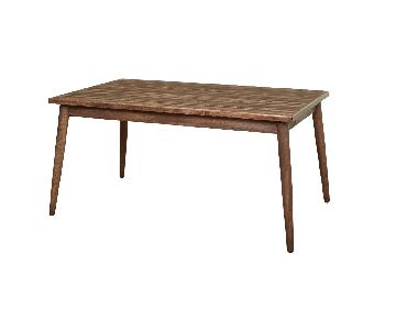 Simple Living Element Mid-Century Dining Table in Walnut