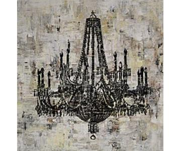 Black & White Canvas Art - Chandelier