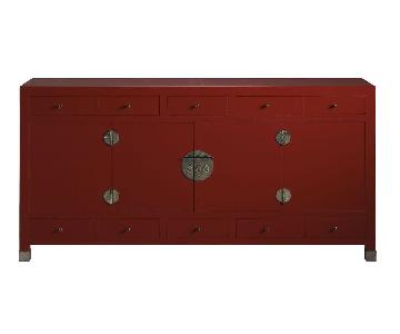 Baker Ming 6 Drawer Sideboard in Antique Blaze Finish