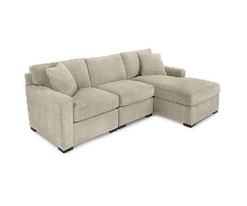 Macy's Radley Fabric 3-Piece Chaise Sectional Sofa