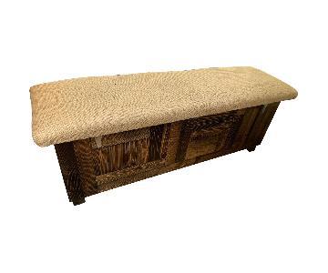 Recycled Brooklyn Coffee Sack Storage Bench