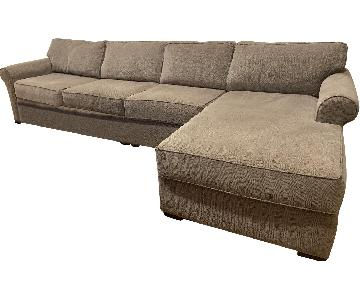 Beige Fabric 3-Piece Sectional Sofa