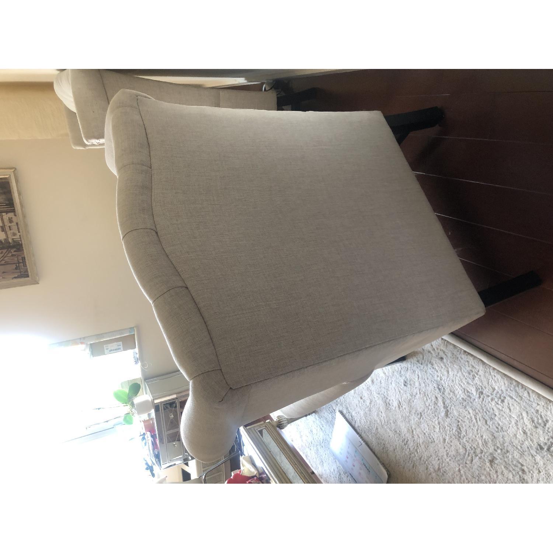 Baxton Studio Sussex Tufted Club Chair in Beige Linen-6