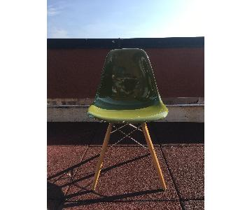 Eames Style Green Plastic Side Chair