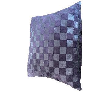 Purple Leather Decorative Pillow