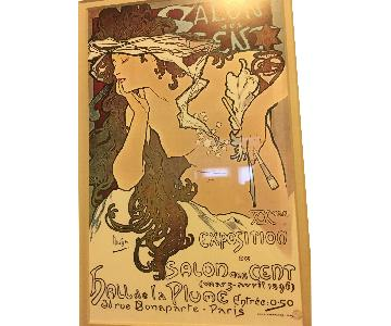 Salon des cent Alphonse Mucha Framed Print