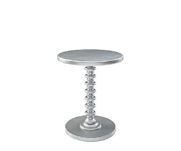 Palm Springs Spindle Side Table in Grey/Silver