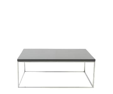 Grey Contemporary Lacquer Coffee Table