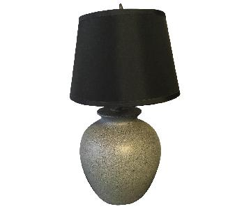 Macy's Gray Black & Rose Ginger Jar Table Lamp