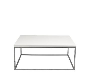 White Contemporary Lacquer Coffee Table