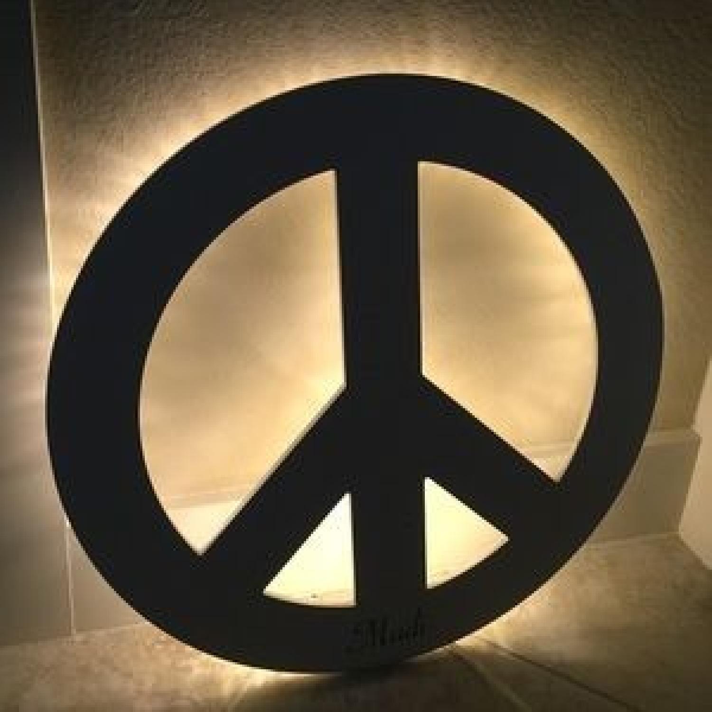 Pottery Barn PB Teen Peace Sign LED Light