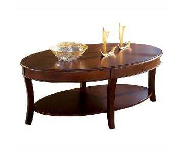 Charlton Home Swarthmore Oval Coffee Table