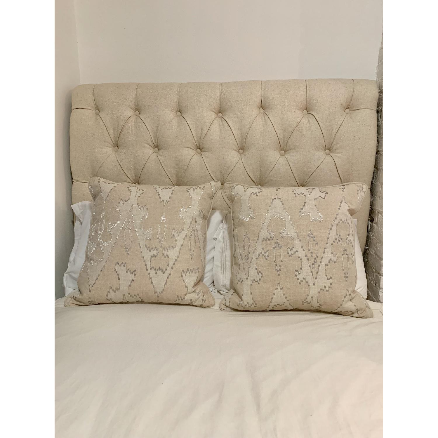Pier 1 Tall Upholstered Full Size Headboard
