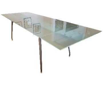 Modani Ciacci Extendable Glass Dining Table