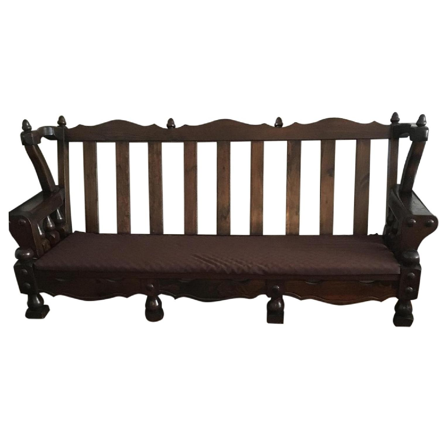 Spanish Colonial Wood Frame Sofa
